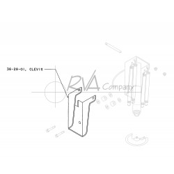 J0736-29-01 - Rear 22.5 Jack Clevis (Jack Mount)