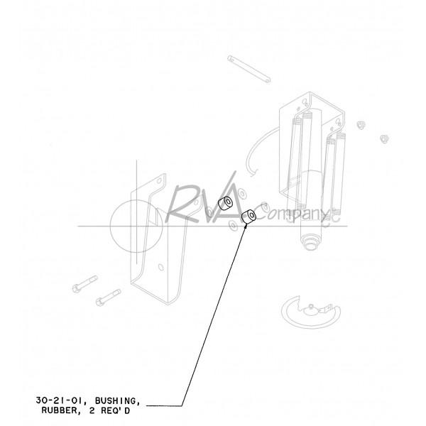 "RVA-SP-02 - Rear RVA Jack Bushing - 9/16"" ID (SET OF TWO)"