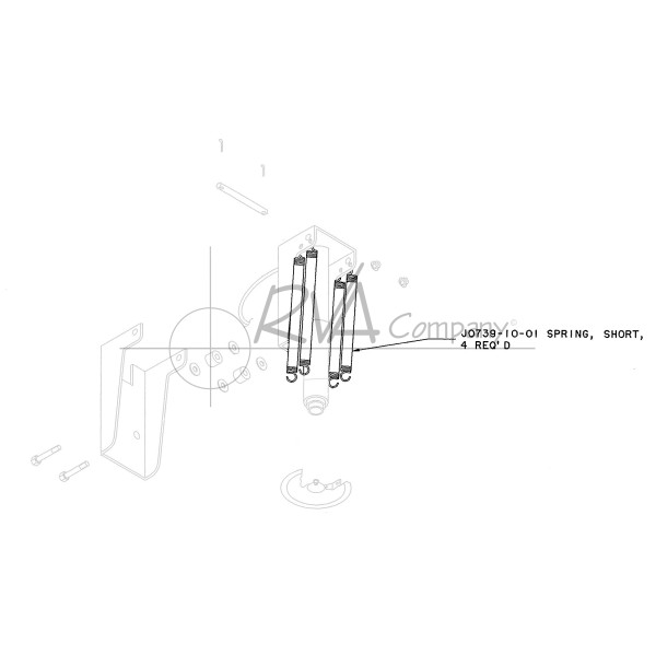 J0739-10-01 - Rear RVA Jack Spring - Short - All Models Rear (Single Spring)