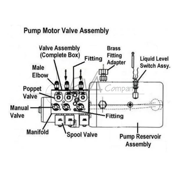 J0914-22-01 - Pump Motor Valve Assembly (for leveling jacks & main slide)