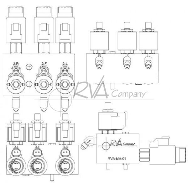 RVA-MA-01 - Upgraded RVA Hydraulic Pump Manifold Assembly (W/Solenoids)